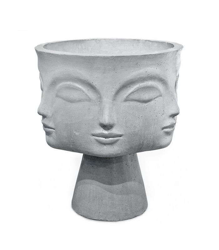 Abstract vase with faces