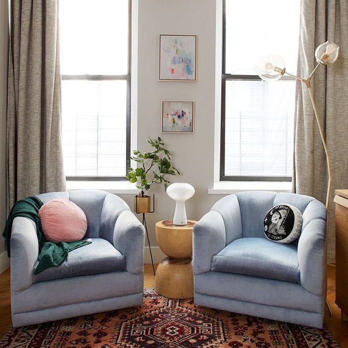 matching arm chair's in modern loft