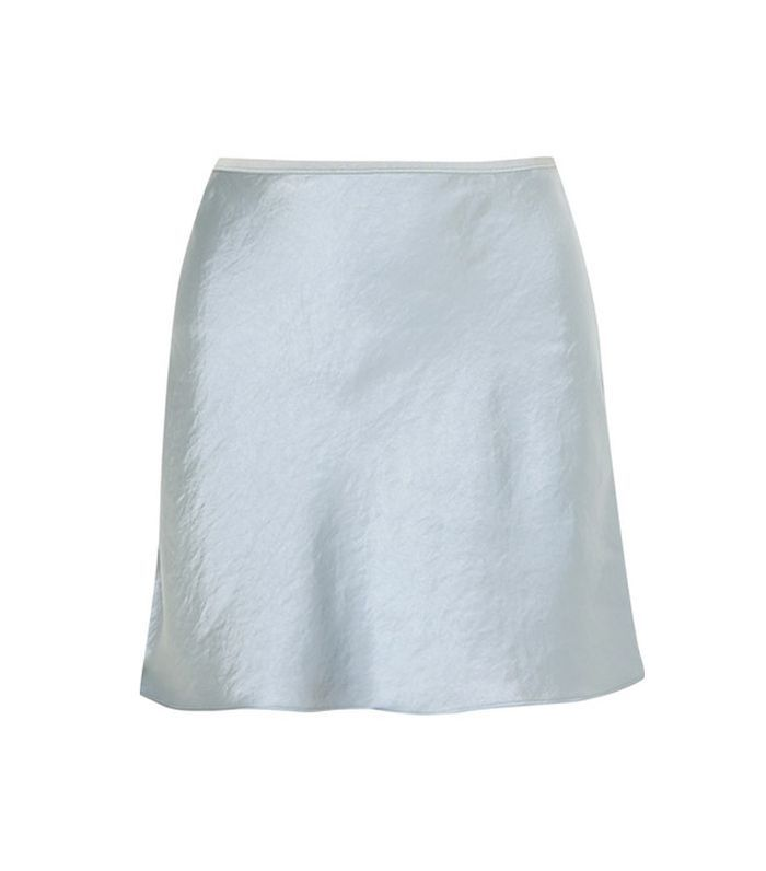 T by Alexander Wang Crinkled-Satin Miniskirt