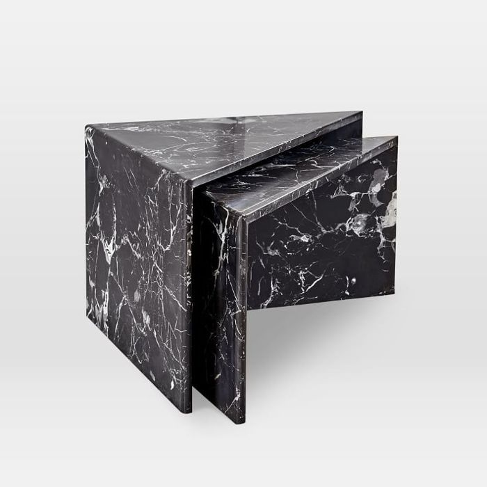 West Elm Nesting Marble Side Tables