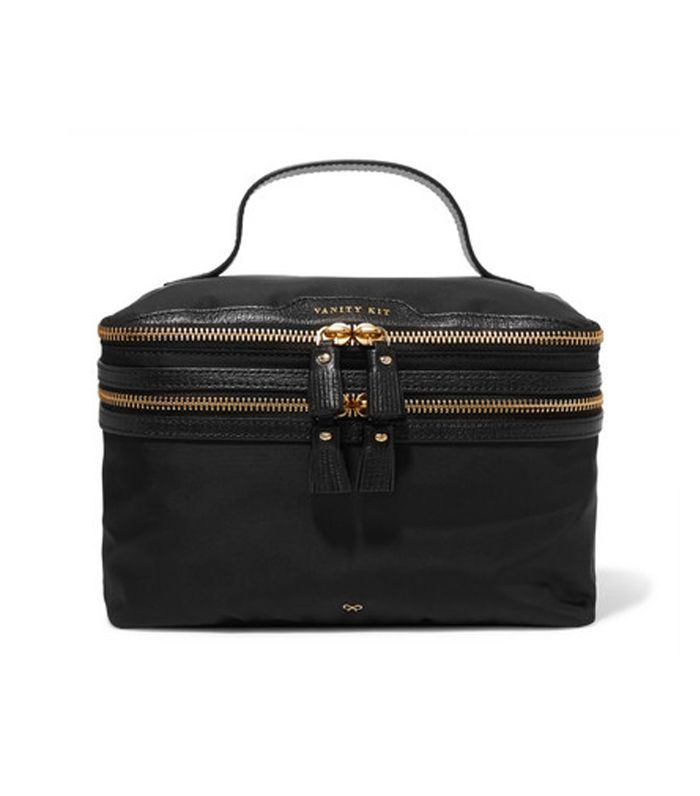 Vanity Kit Leather-trimmed Cosmetics Case