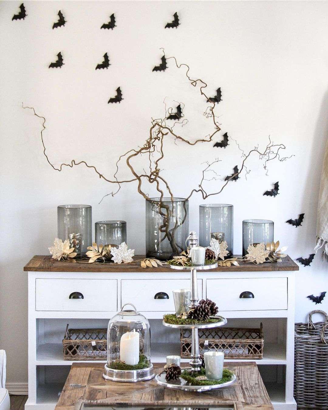 Bats on a wall