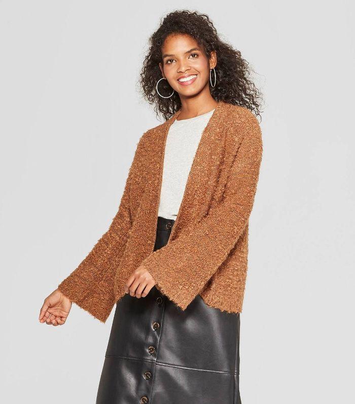 Who What Wear Teddy Bear Sweater Jacket