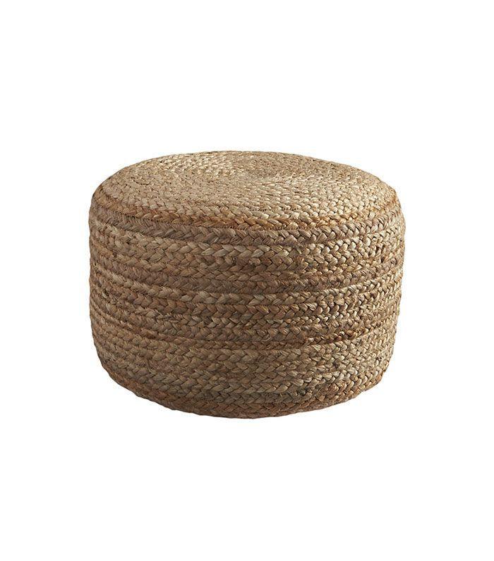 braided hemp pouf