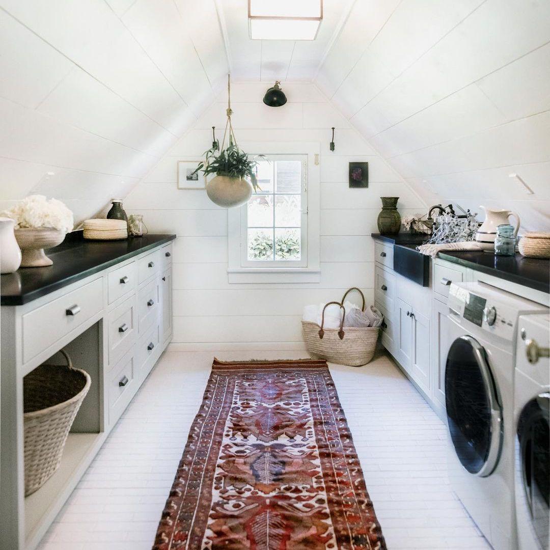 Attic laundry room