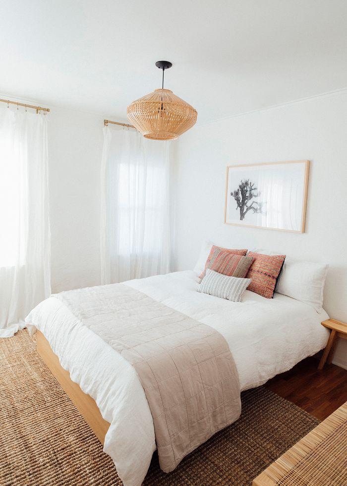 minimal guest bedroom