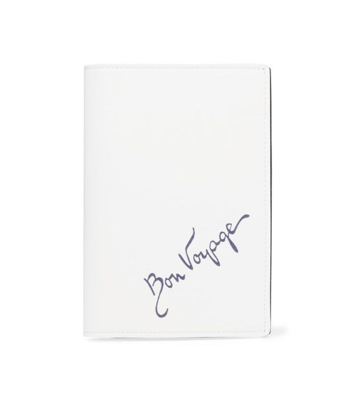Bon Voyage Leather Passport Cover