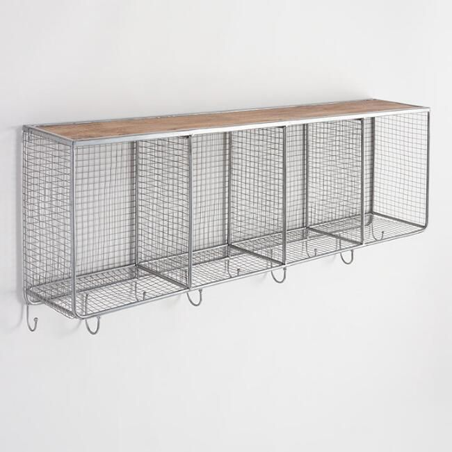 World Market Metal and Wood Wall Storage