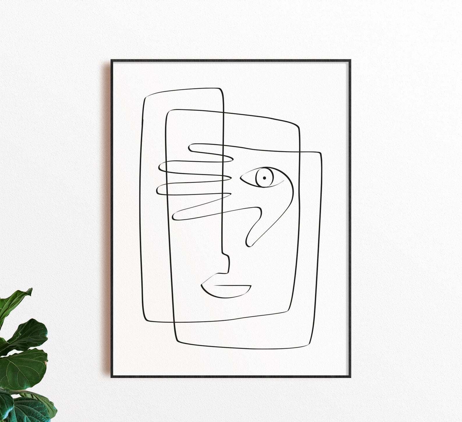 TinteriaDesign One Line Art Print