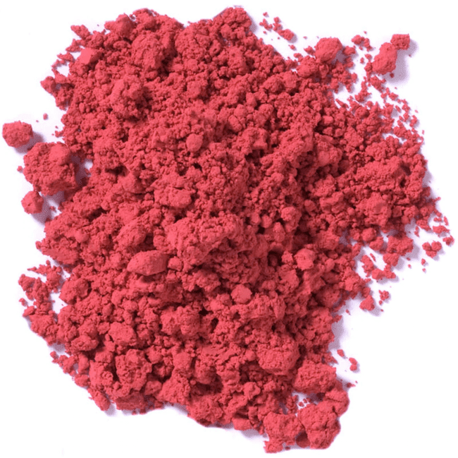 A pile of pink pigment