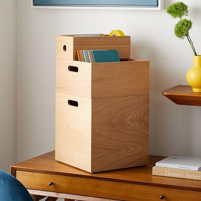 West Elm Jasper Wood Storage Collection