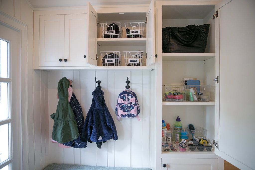 hall closet with built-ins