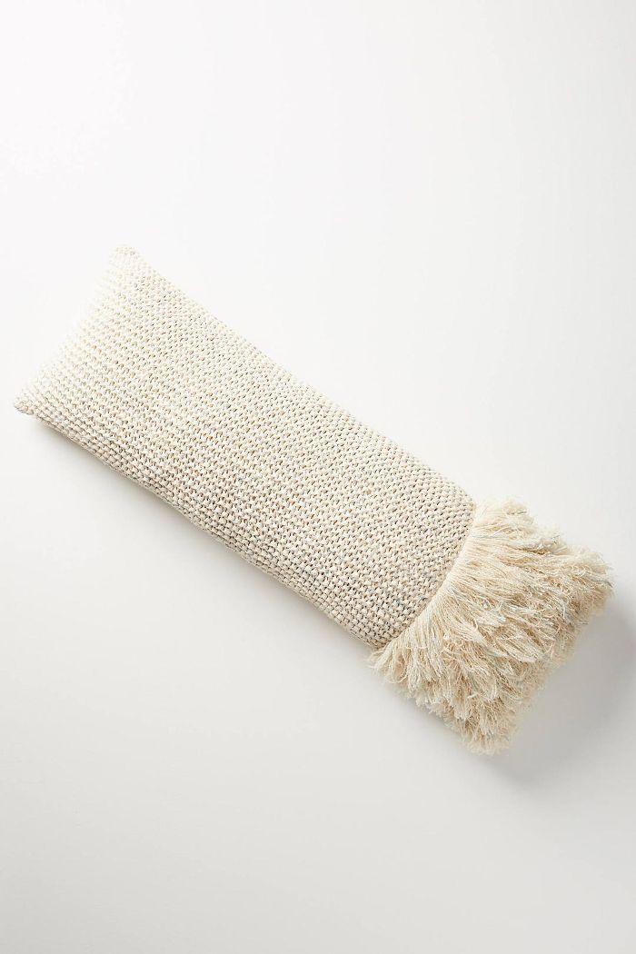 Fringed Waffleknit Pillow