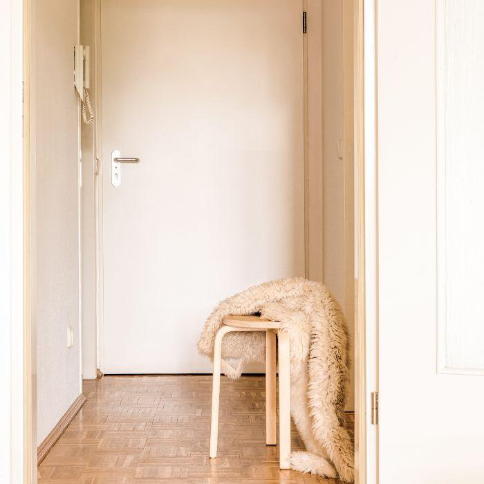 IKEA stool—Entryway design