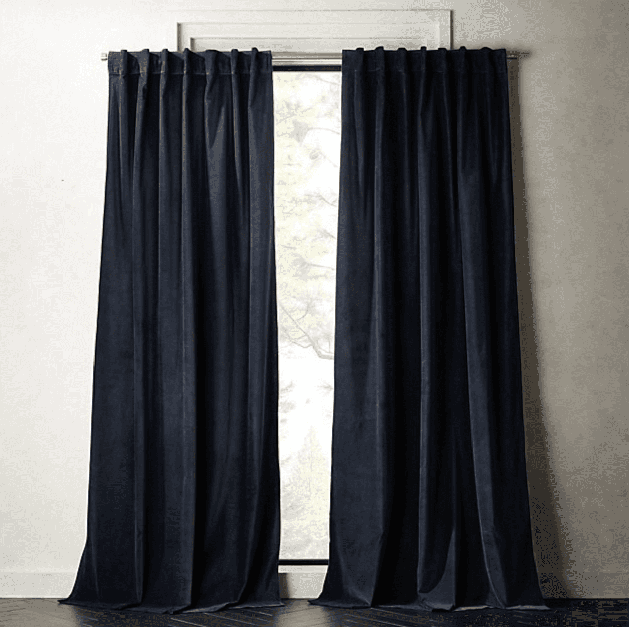 cortinas azul marino