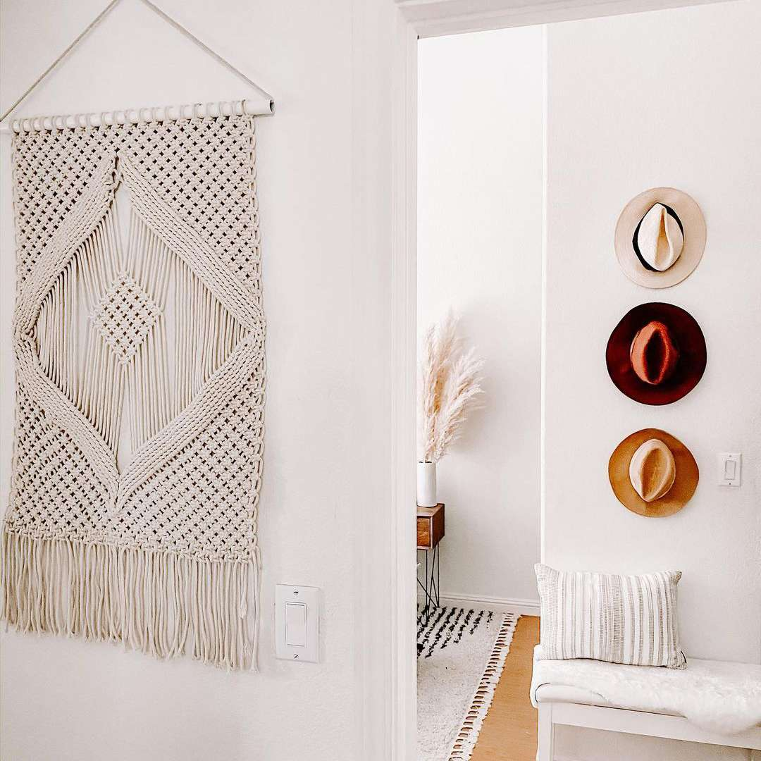 Wall hanging on wall