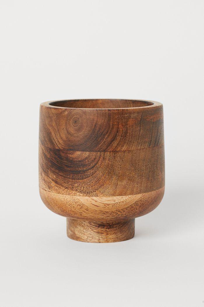 H&M Wooden Plant Pot
