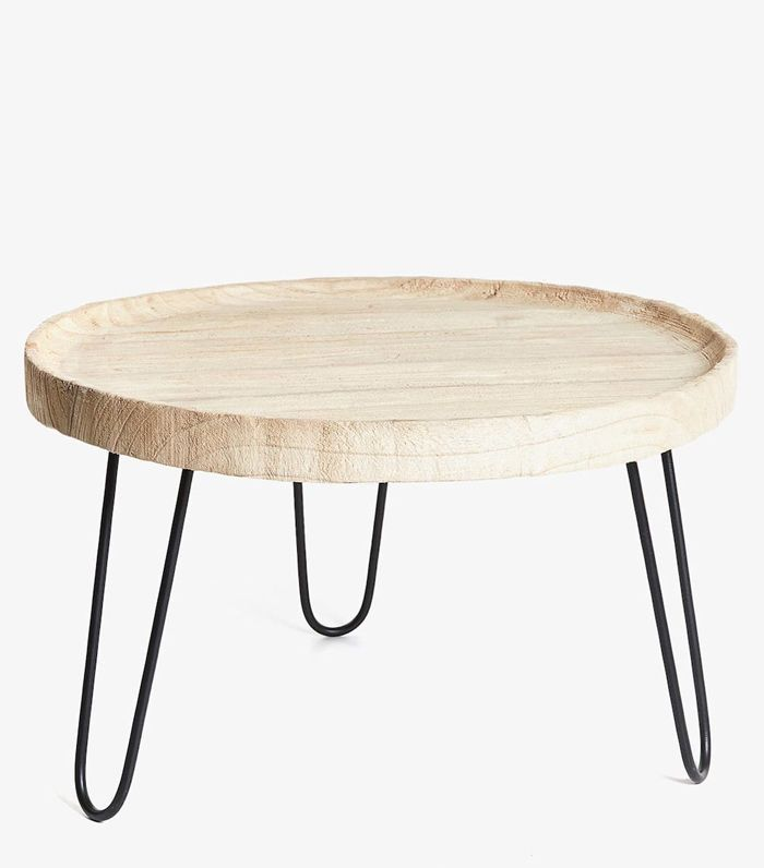 Zara Home Round Wooden Side Table