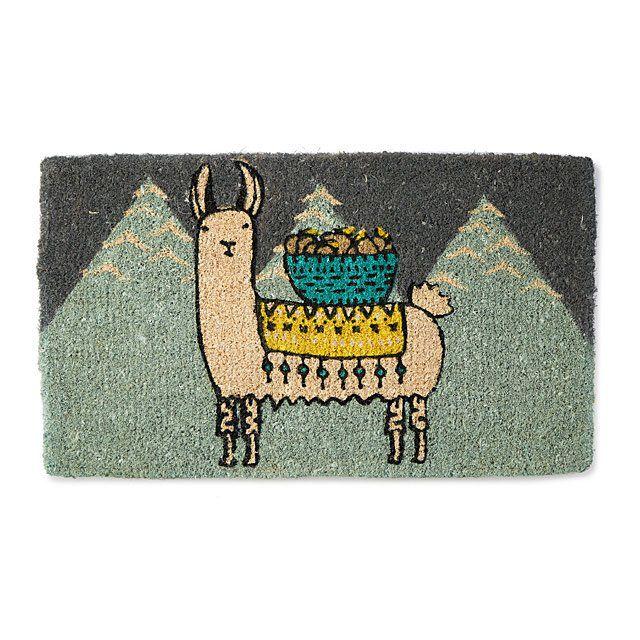 Larry the Llama door mat by Uncommon Goods