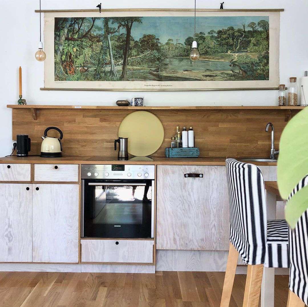 best kitchen ideas - wooden backsplash