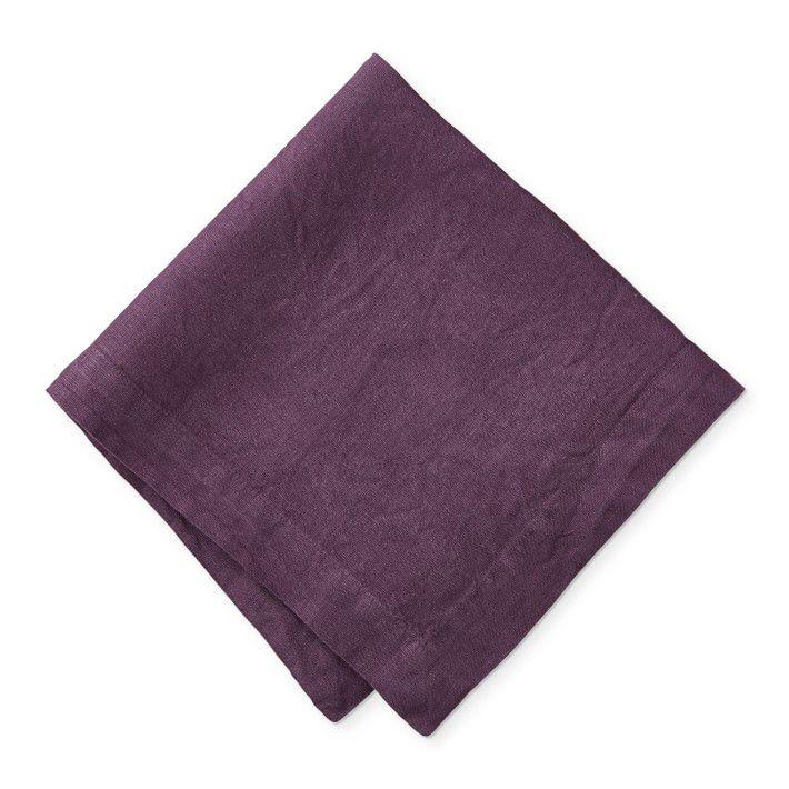 Garment Dyed Italian Linen Napkins, Set of 4