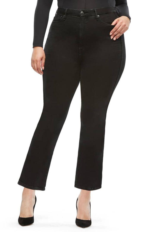 Good American Good Curve Straight Leg Jeans