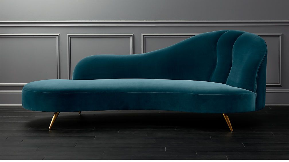 teal curved sofa