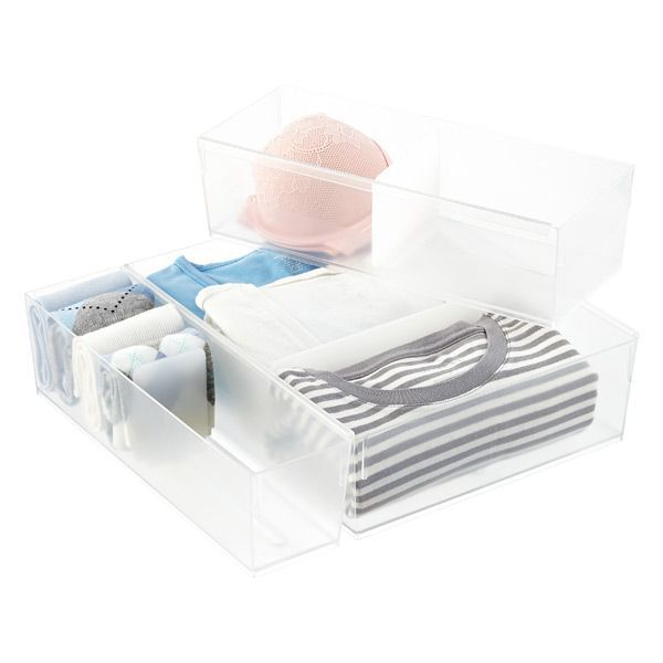 The Container Store Adjustable Drawer Organizers—Minimalist Closets