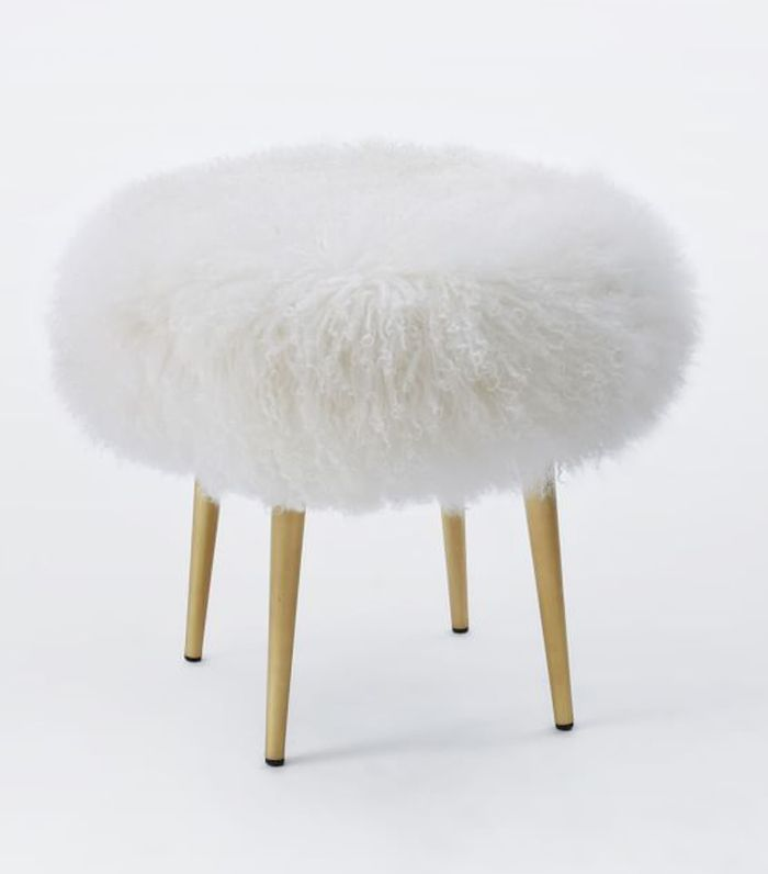 West Elm Mongolian Lamb Stool