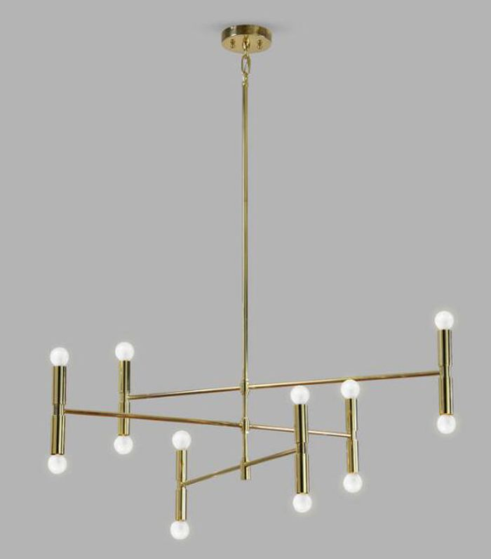 Gold Jensen 12 Light Chandelier by World Market