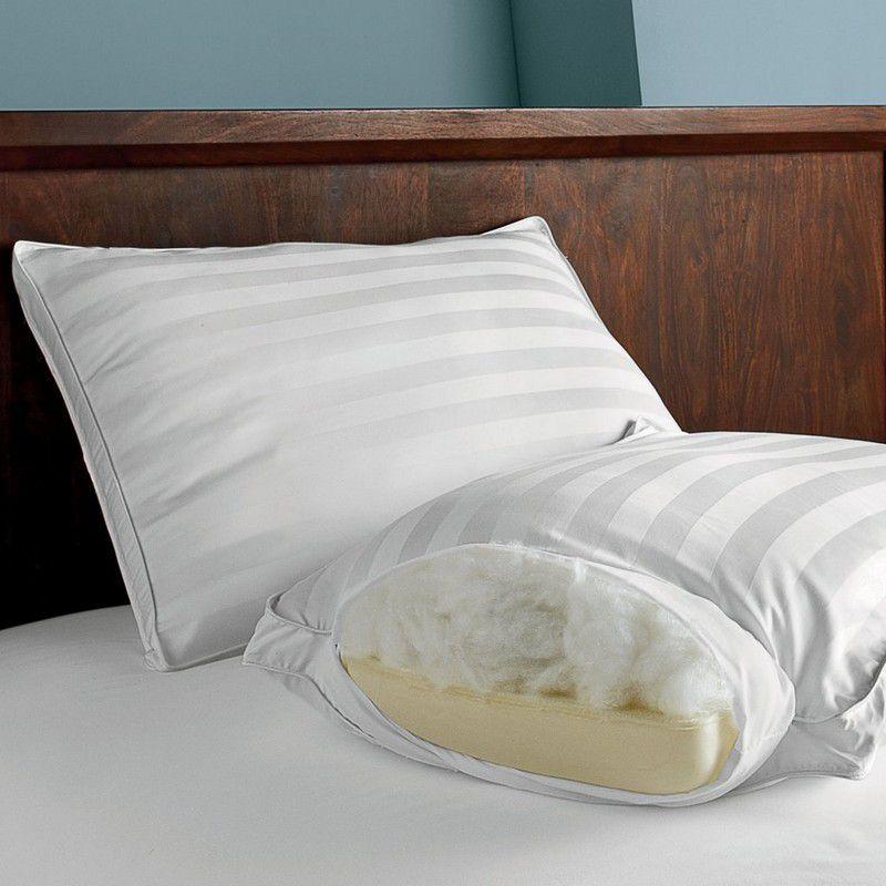 The Company Store Dual Memory Foam and Gel Fiber Pillow