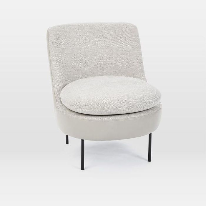 Modern Curved Slipper Chair