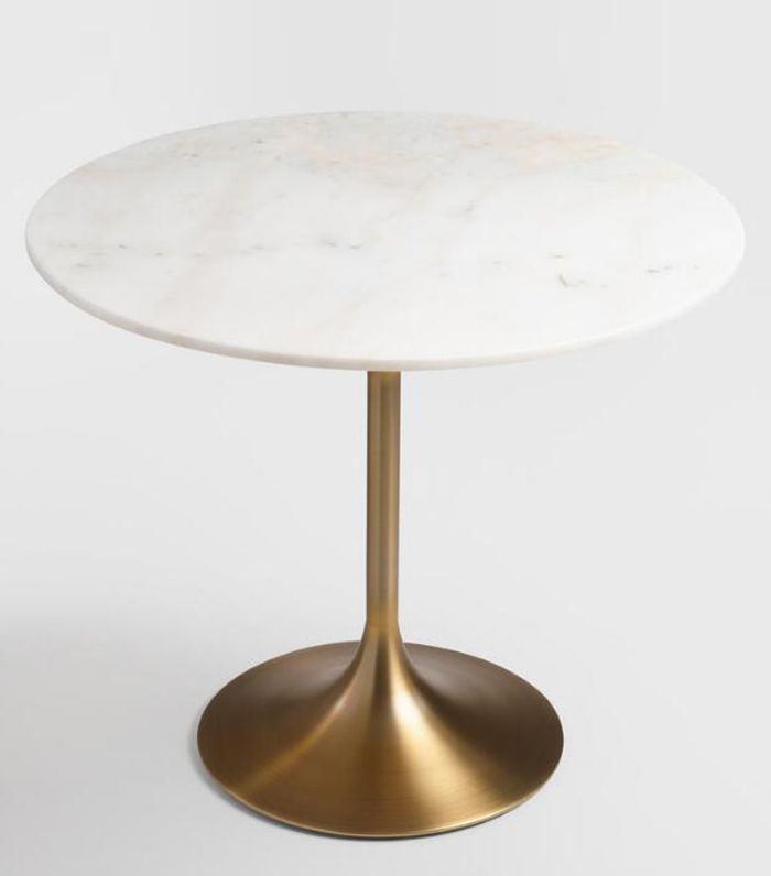 World Market Gold and Marble Leilani Tulip Dining Table - Wood - Small by World Market