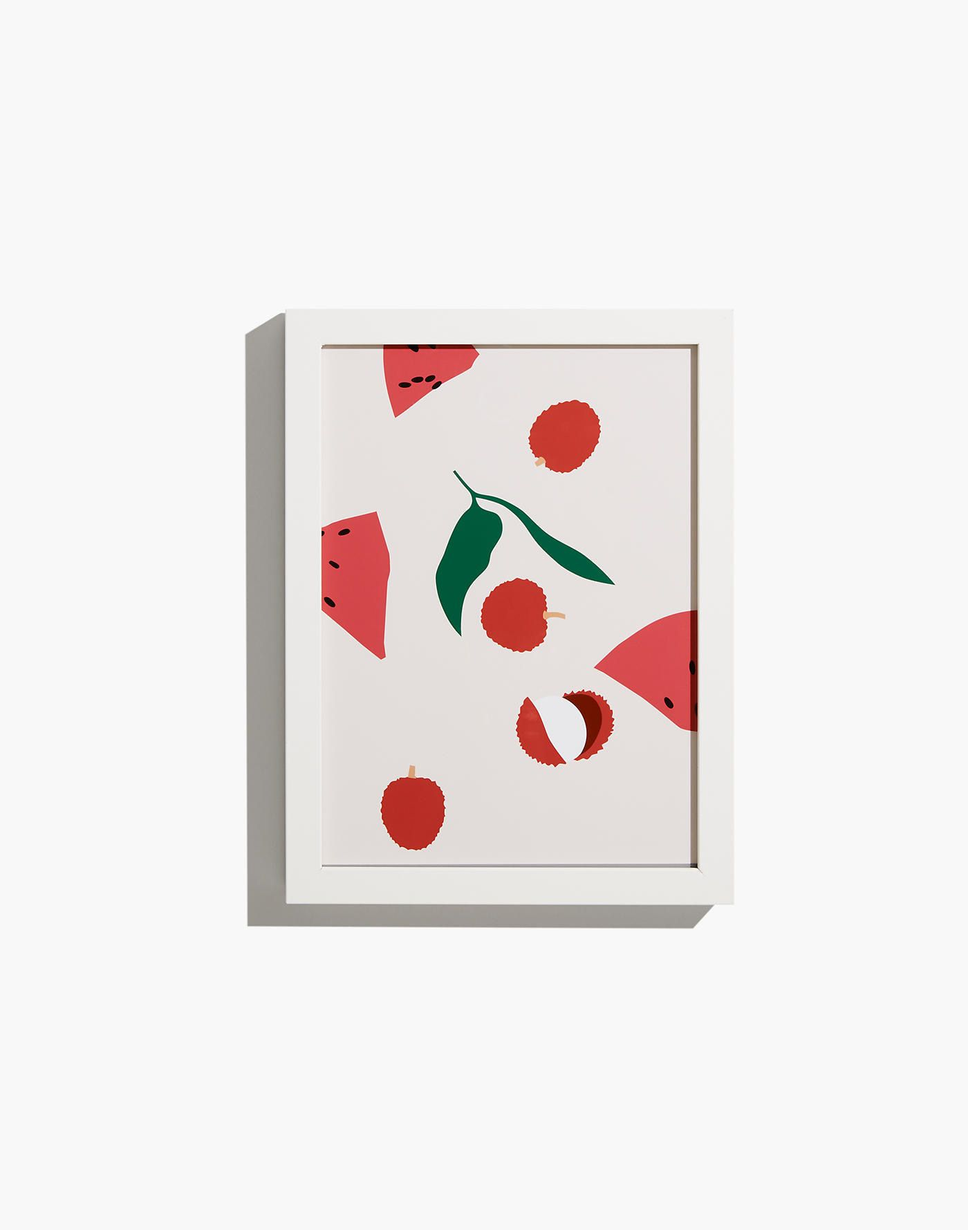 Small Red Fruit Mix Framed Print