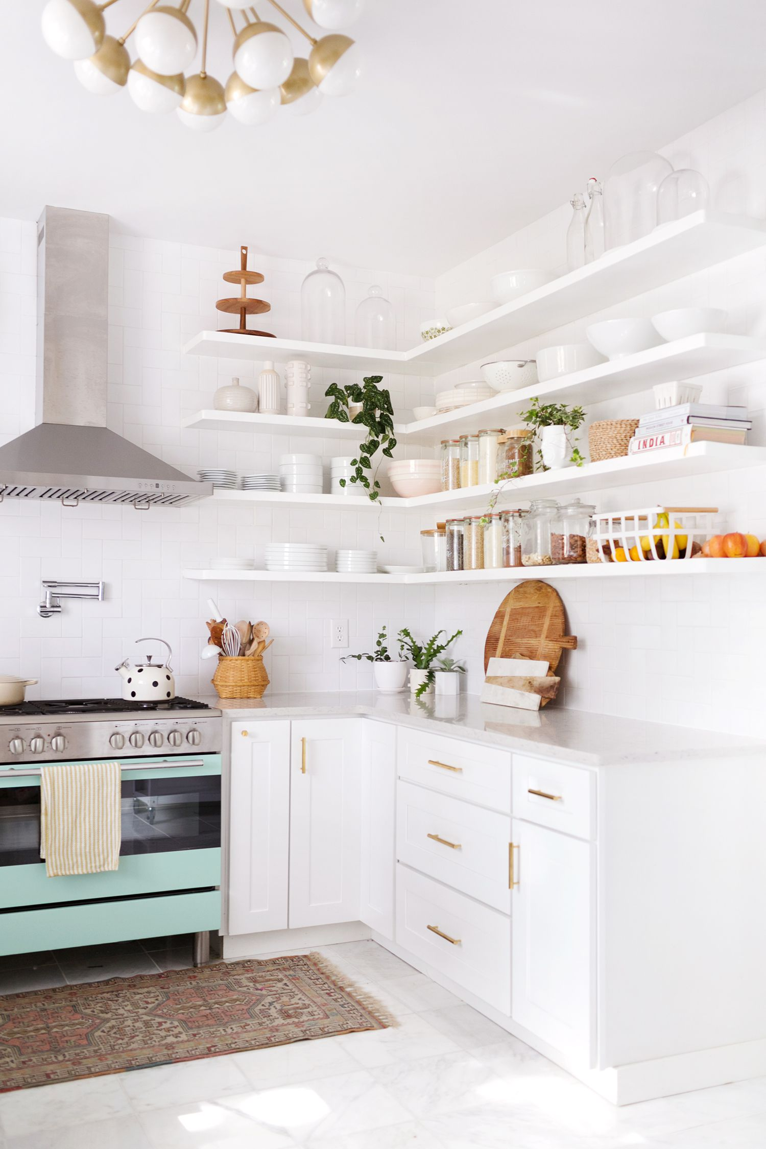 Makeover of the Week: The Creator of A Beautiful Mess Gave This Retro Kitchen an Inspiring Update