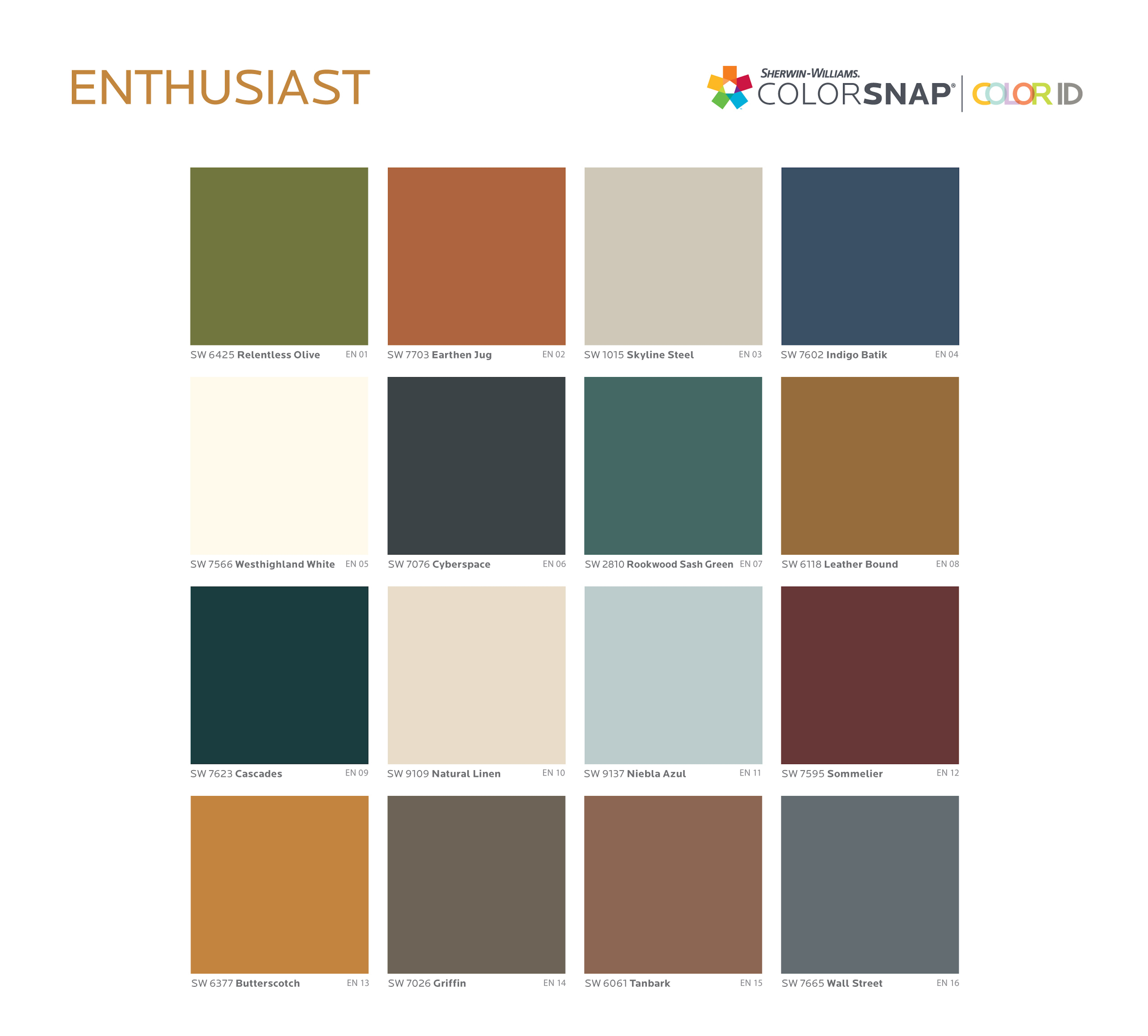 Enthusiast paint color palette