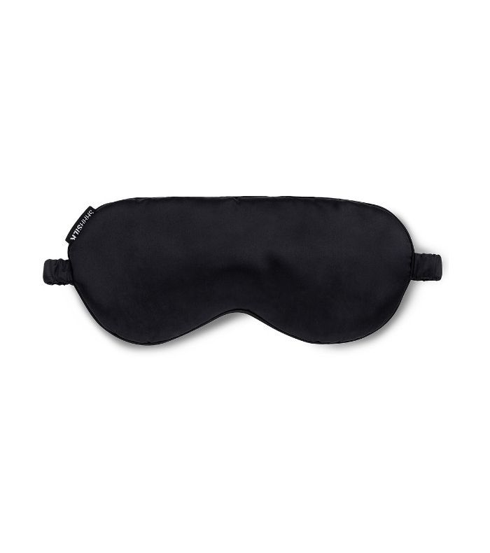 Shhh SIlk Silk Eye Mask in Black