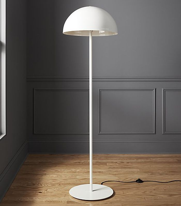 CB2 Hanna White Floor Lamp
