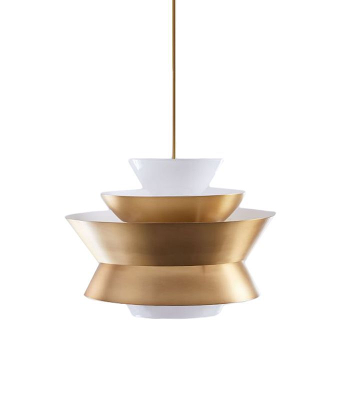Tiered Metal Shade Pendant