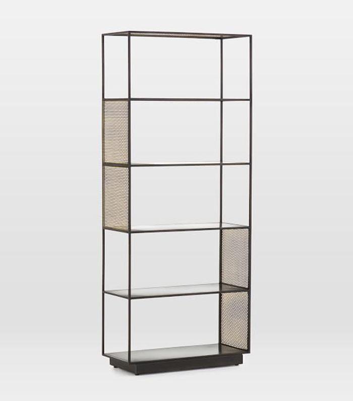 Modern Perforated Metal Bookshelf by West Elm