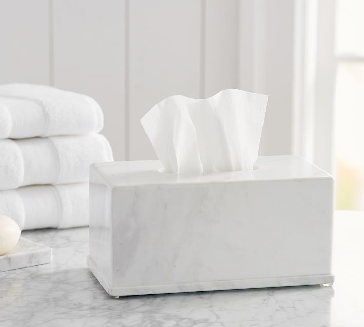 Monique Lhuillier Marble Large Tissue Holder