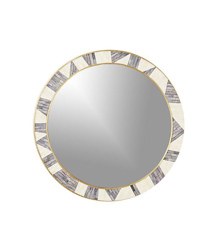 Grace Bone Inlay Round Wall Mirror 32