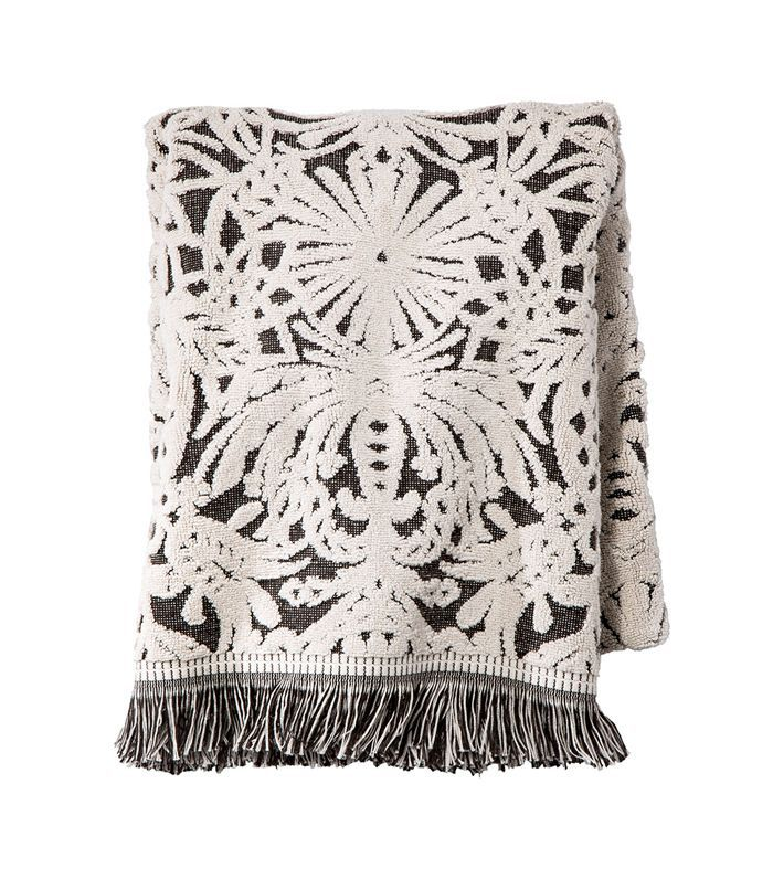 Target Allover Pattern Bath Towel Black/White