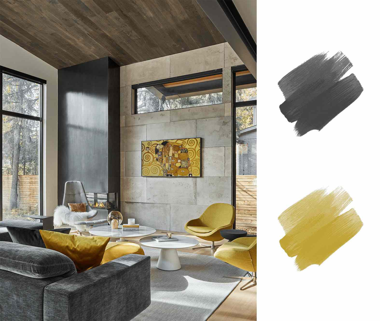 best interior color scheme - yellow and black