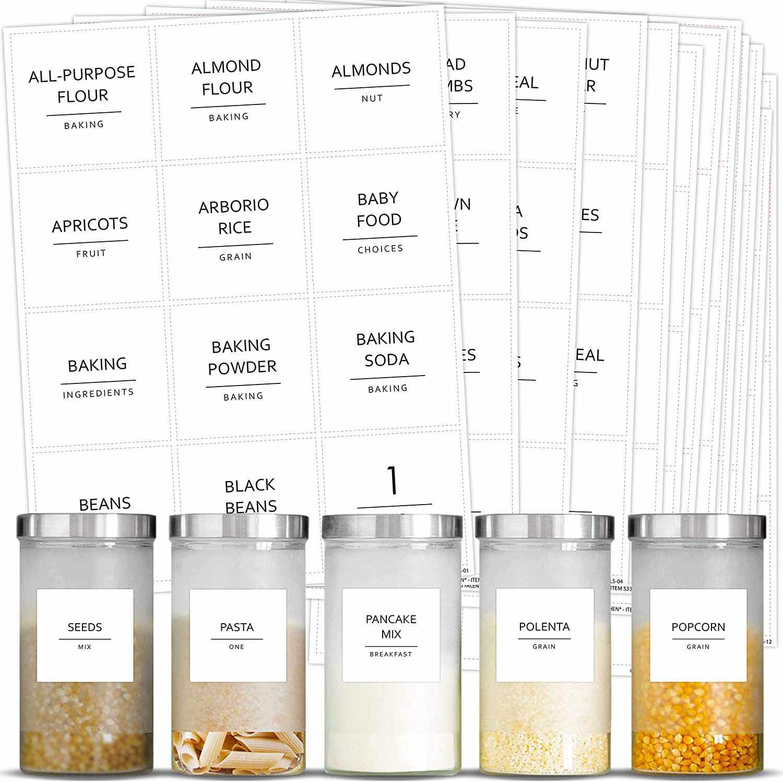 Talented Kitchen Minimalist Pantry Labels Set