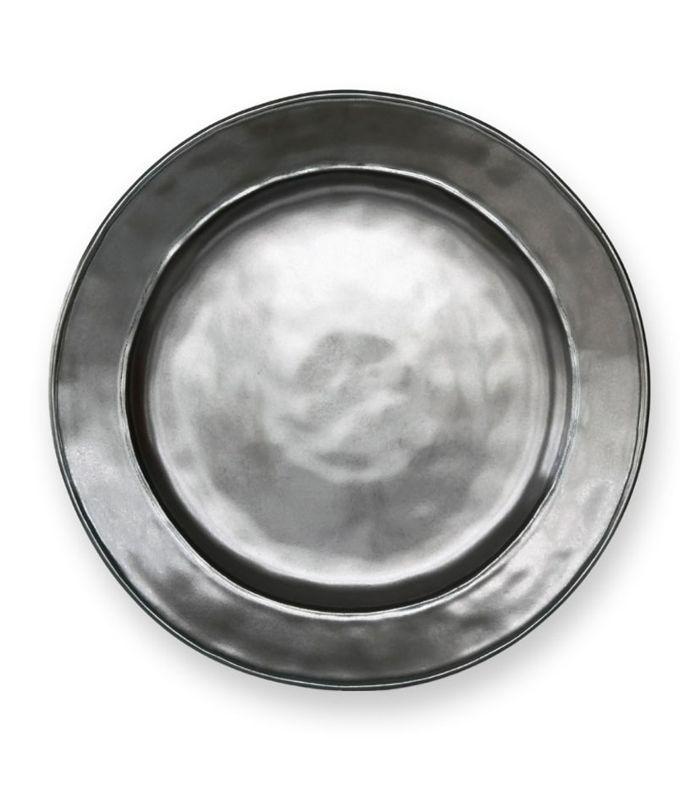 'Pewter' Stoneware Dinner Plate