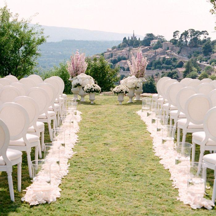 a fall wedding venue overlooking a scenic vista