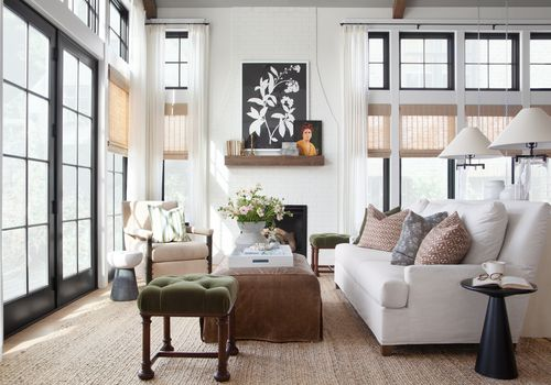 One room I'll never forget - fargo sunroom with neutral colors and tall ceilings