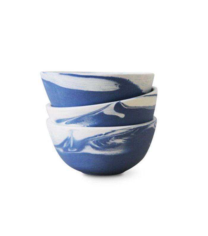 One and Many Ceramic Set of Three Bowls