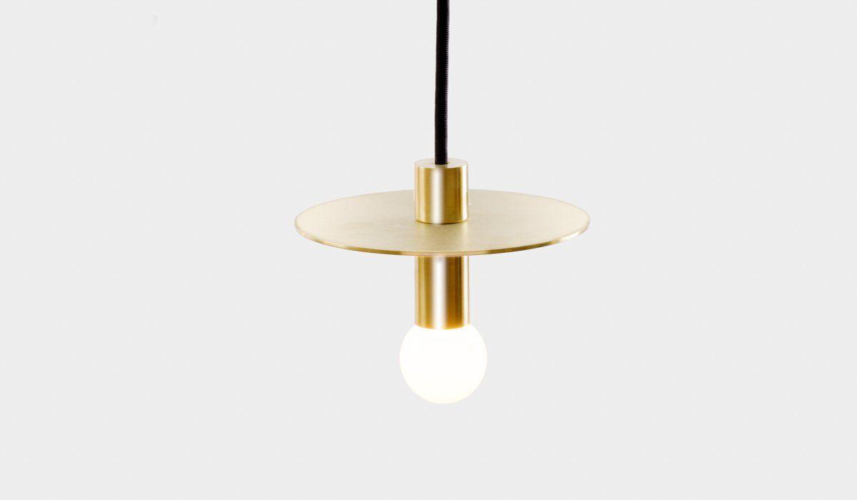 Gold and black minimal pendant light